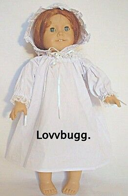 "Lovvbugg Colonial Nightgown for 18"" American Girl Felicity Doll Clothes"