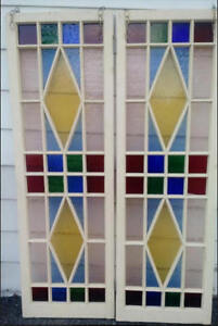 Two Large Windows with Stained glass 425 OBO