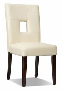 Dining Chairs - Ivory with expresso legs - $40 each