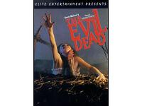 The Evil dead 1-3, Scream 1-4, Elm street 1-3, Childs play dvds