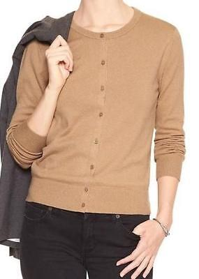 NWT Womens Banana Republic Sweater Cardigan Luxe Crew-Neck Cashmere Blend *C1