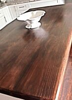 Solid reclaimed wood kitchen,car,island or batheroom countertops