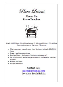 Piano Lessons in Halifax!