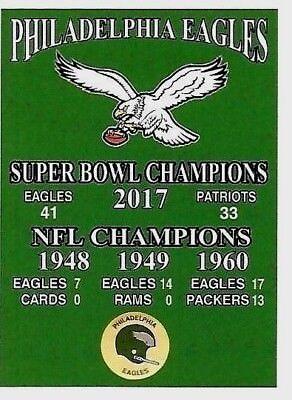 The Philadelphia Eagles Vintage Style Championship  Super Bowl   Nfl  Magnet