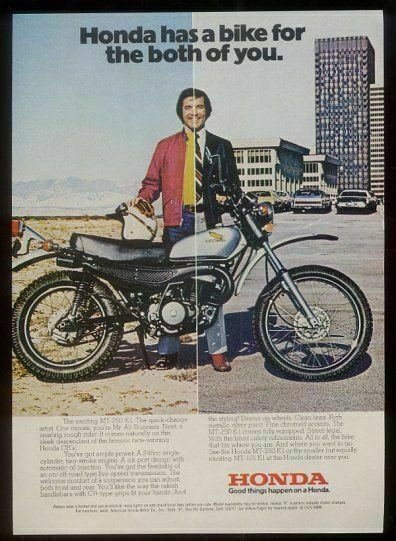 1976 Honda MT-250 K1 motorcycle photo vintage print ad