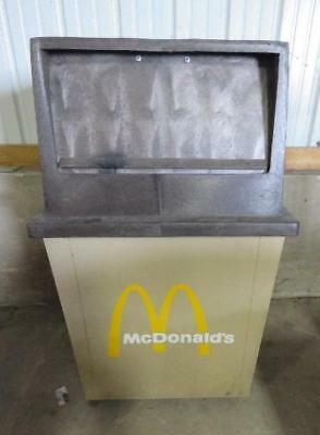 Outdoor Trash Receptacle - MCDONALD'S OUTDOOR TRASH CAN 27x25x44 mcdonalds receptacle garbage commercial
