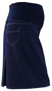 Denim Like Cotton Maternity Pregnancy Skirt UK Sizes 6-18 ♥ MADE IN EUROPE ♥ 245