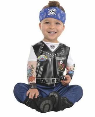 Baby Biker Halloween Costume Jumpsuit Hat Booties 0-6 Months Infant New