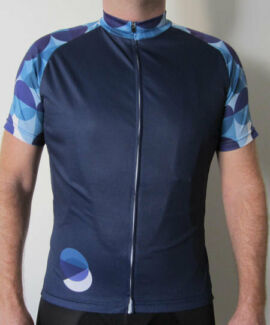 Circles Cycling Jersey - Dark Blue Melville Melville Area Preview