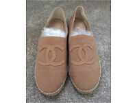 Chanel Tan Beige Espadrilles Size 41/42