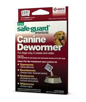 Safe Guard Canine Dewormer (3) 4 Gram Pouches Exp 04/2023
