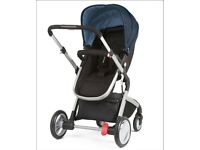 Mothercare 3 in 1 pram car seat, pram and buggy great easy to use pram rain cover included