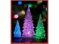 Set of 3 LED Colour-changing Christmas trees