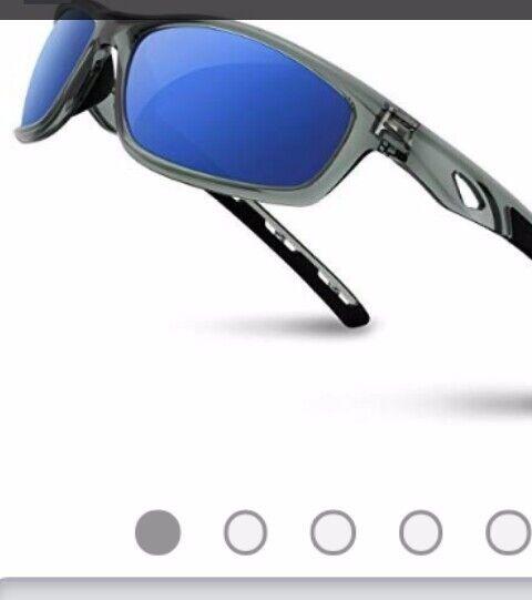 Torege Polarized Sports Sunglasses with 5 Set Interchangeable Lenses /& Case