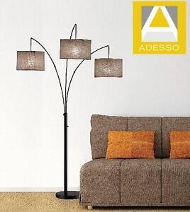 NEW ADESSO TRINITY ARC LAMP - 111916266 - ANTIQUE BRONZE