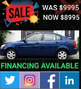 2011 Hyundai accent GLS 70707kms.was 9995 Now 8995 plus taxes