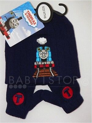 a0d719eca7f OFFICIAL LICENSED THOMAS THE TANK BABY BOYS RIBBED BEANIE HAT   MITT SET