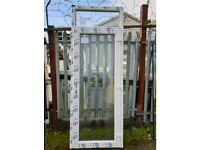 New UPVC White Glass Door With Fanlight 248cm H x 93cm W