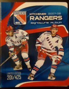 2007 - 2008 CHL / OHL Kitchener Rangers Signature Team Set Album