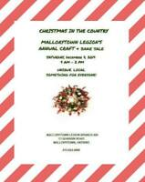 Mallorytown Annual Christmas In The Country Craft & Bake Sale