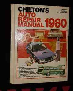 Chilton's Auto Repair Manual for American Cars from 1973 to 1980