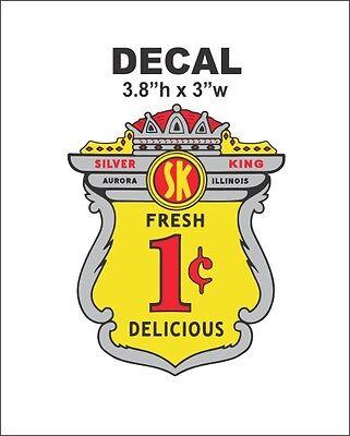 Oak Acorn Vending North Western Gumball Machine Silver King 1 cent Vinyl Decal