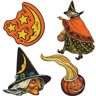 Vintage Halloween Cutouts #2 Paper Cutouts Halloween Party Decorations