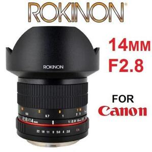 OB ROKINON ULT WIDE LENS 14MM F2.8 FE14M-C 225178210 FULL FRAME ULTRA WIDE ANGLE FOR CANON UMC VERSION PHOTOGRAPHY OP...