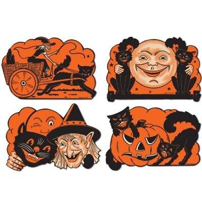 Vintage Halloween Cutouts #1 Paper Cutouts Halloween Party Decorations - $1 Halloween Decorations