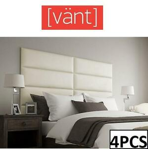 "NEW 4PC 39"" VANT SUEDE WALL PANELS - 110611278 - 39"" x 11.5"" - LIGHT TAUPE"