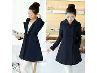 Ladies Lightweight Navy Blue Coat for Spring, size 8-10