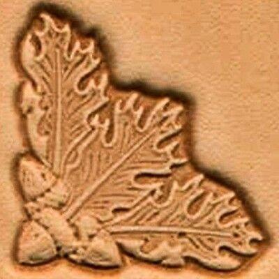 3D OAK LEAF CORNER LEATHER STAMP 8536-00 Tandy Stamping Tool Craft Stamps Tools
