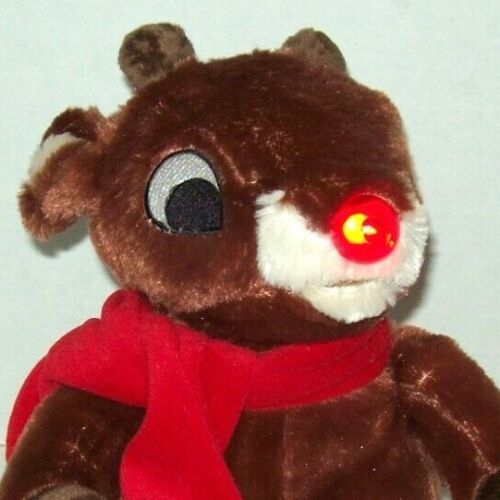RARE DAN DEE CHRISTMAS RUDOLPH THE RED NOSE REINDEER ANIMATED LIGHTED  MUSICAL