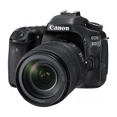 Canon EOS 80D - 24.2 MP Digital SLR Camera - Black - w/ 18-135mm Lens f/3.5-5.6