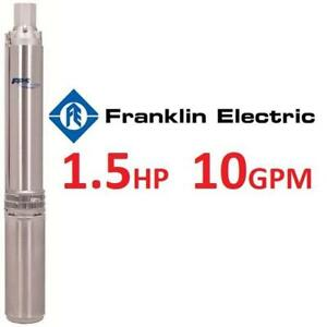 NEW FRANKLIN SUBMERSIBLE WELL PUMP 10SRD05S4-3W230 235773762 SCHAEFER 10GPM 1.5HP 230V 1PH 3WIRE 3200 SERIES