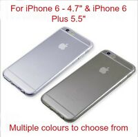 """Apple iPhone 6 - 4.7""""or 6 Plus 5.5"""" Transperent Soft Clear Cases"""