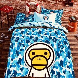 Custom Bape premium quality bed duvet cover