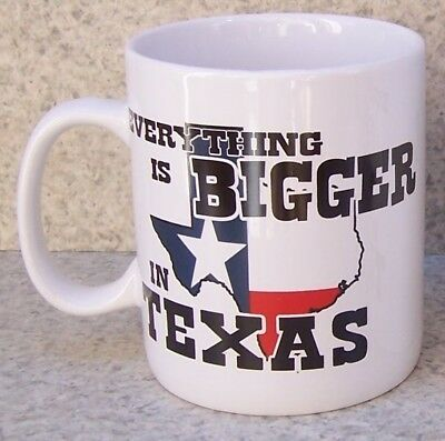 Jumbo Coffee - Jumbo Coffee Mug Everything's Bigger in Texas NEW HUGE 30 ounce cup w/ gift box