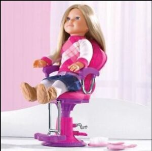"NEWBERRY 18"" DOLL SALON CHAIR AND ACCESSORIES BNIB"