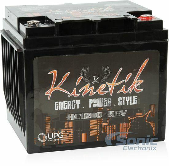 Kinetik HC1200-REV 1200W 12V High Current AGM Car Audio Power Cell - Battery
