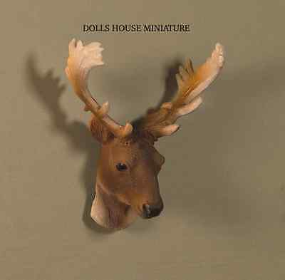 Trophy Stag's Head, Doll House Miniature, 1.12th Scale