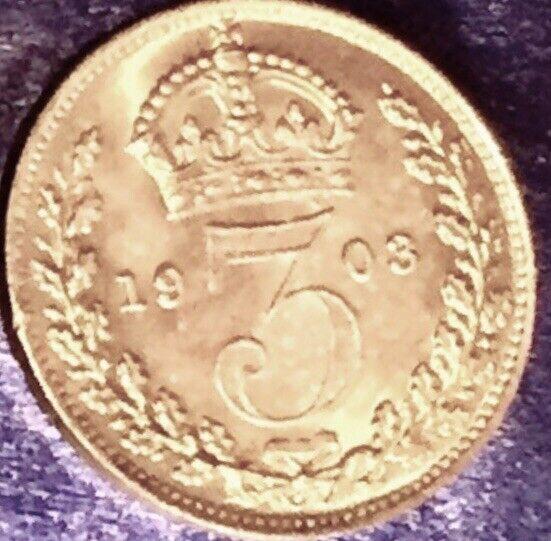 "SCARCE 1903 Edward VII ""Maundy Money"" Set 1, 2, 3, 4 PENCE-ONLY 8,976 Sets Made!"