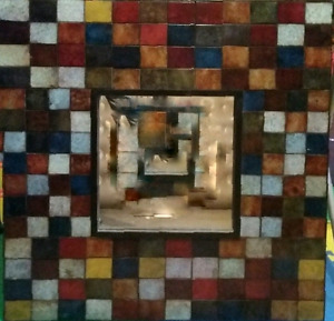 Patina squares mirror from Pier One