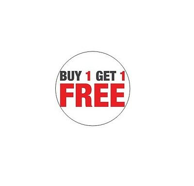 24 Buy 1 Get 1 Free Stickers - Circle 1.5 Diameter Vending Machine Stickers