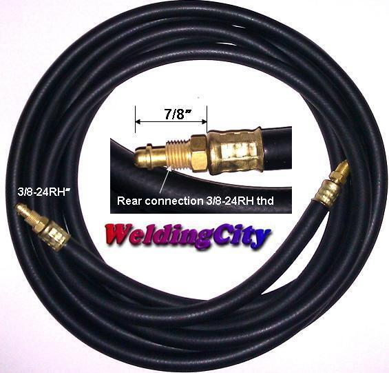 TIG Welding Power Cable Gas Hose 57Y03R Rubber 25/' Torch 9//17US Seller Fast