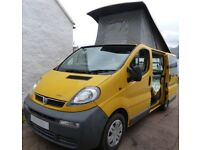 CAMPERVAN, 4 BERTH. POP-TOP. FULLY FITTED AND READY TO GO. VAUXHALL VIVARO