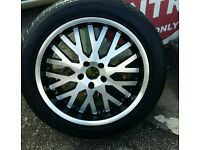 "Set of Alloy wheels with tyres X 4 20"" for Audi Q7 Range rover may fit other cars . 275/45/R20"