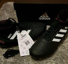 Adidas Predator 18.3 SG Boots size 6 Black/White/Solar Red