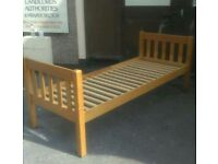 Pine Small Single Bed Frame