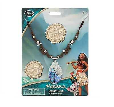 New! Disney Moana Singing Necklace,Sings How Far I'll Go
